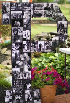 back yard events and decorations for graduation | She took foam core to a new level with this one. She used her initial ...