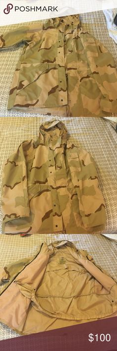 Military desert camo cold weather parka Tennessee apparel corp military camouflage cold weather parka size: L color: woodland camo description: jacket is in excellent condition with no rips, stains or odors. Waterproof, windproof, breathable with Gore-Tex Tennessee Apparel Company Jackets & Coats Military & Field