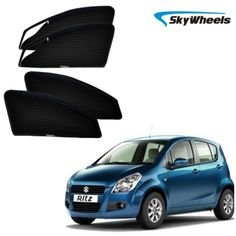 Skywheels Uv Magnetic Car Sun Shade For Maruti Suzuki Ritz With   Zipper Set Of 4