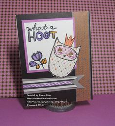 CTMH August 2014 SOTM What a Hoot paired with Scaredy Cat paper pack by Dawn Ross at http://iamahappystamper.blogspot.com
