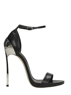 CASADEI | Casadei Casadei Black Leather Sandals #Shoes #Sandals #CASADEI