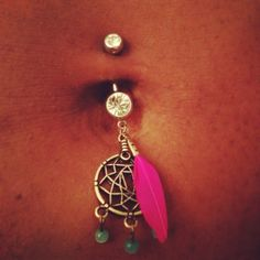 Dream catcher My belly button isn't pierced, but if it was I'd definitely want this
