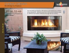 """SS-36 and SS-48 are smaller versions of our outdoor linear fireplaces with viewing area 36"""" and 48"""" correspondingly. They are available for natural gas or LP. Its burner and enclosure are made of brushed 304 stainless steel to withstand weather elements and please the look. All SS models feature electronic ignition system and SIT valve. This fireplace will make a focal point to any patio! Please visit our web-site for more details. We ship all over North America! Outdoor Gas Fireplace, Linear Fireplace, Gas Fireplaces, Fireplace Inserts, Electric Fireplace, Fireplace Showroom, Custom Fireplace, Biofuel Fireplace, Ignition System"""