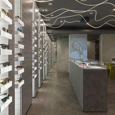 Carlotti optic boutique by Véronique Laurent eyewear store design