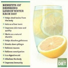 I have drank lemon water for years and now I discover this! YAY!!