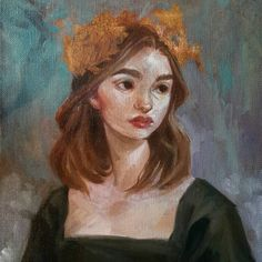 An oil painting I made while livestreaming today, thank you if you watched! 🎨 * * * #art #oilpainting #portrait #painting #traditionalart #canvas #oilpaints #winsorandnewton #blackswan
