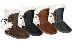 Dawgs Side Tie Women's Boots