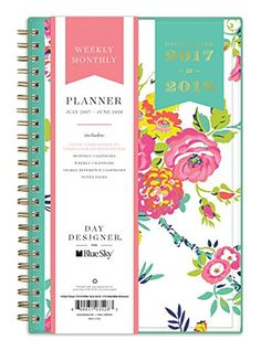 Day Designer For Blue Sky Academic Year Weekly Monthly Planner Twin Wire Bound X White Floral