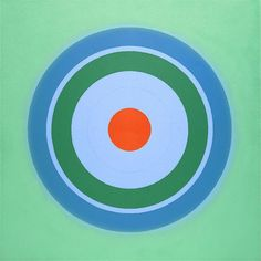 Kenneth Noland, sadly, he passed away last year. His sense of color was amazing.