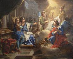 Blanche de Castille montrant à saint Louis la Religion, la Foi et la Piété d'après Jean JOUVENET
