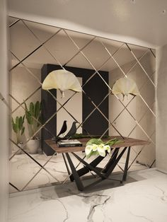 34 Popular Mirror Wall Decor Ideas Best For Living Room Decor Ideas Living Mirror mirrorwalldecor Popular Room Wall Living Room Mirrors, Living Room Decor, Bedroom Decor, Dining Room, Dining Table, Interior Walls, Home Interior Design, Interior Painting, Interior Cladding
