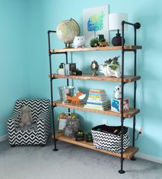DIY Industrial Shelf 5
