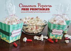 Cinnamon Popcorn with FREE Printables