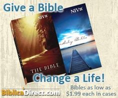 The lowest-priced ministry Bibles by the case anywhere.   Let's change the world together with God's Word!http://www.spreadblessings.com/blessings.html