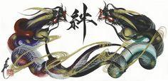 (赤、紫)(黒、金、緑), (Red, purple) and (Black, gold, green) dragon Japanese Dragon, Japanese Art, Guru Tattoo, Dragon Classes, Dandelion Tattoo Design, Logo Dragon, Tattoo Posters, Dragon Artwork, Nose Art