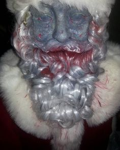 Wish I had more time to work on #thewalkingdead #Santa but it looks just spooky enough for A Dreadpunk Holiday  for this Saturday www.DreadpunkHoliday.com  #GothicLosAngeles #SpookyChristmas #LosAngeles #LosAngelesEvents #Christmas #horror