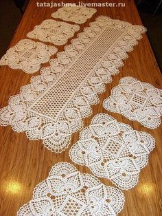crochet stiches patterns and projectsomg what a beauty - PIPicStatsWith clear patternThis Pin was discovered by Ire Crochet Table Runner Pattern, Crochet Placemats, Crochet Doily Diagram, Crochet Doily Patterns, Crochet Squares, Thread Crochet, Filet Crochet, Crochet Designs, Crochet Dollies