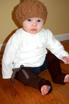 Baby Girl Legwarmers Emma Style Brown by SwankyShank on Etsy, $4.00