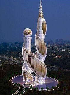 Unusual Buildings, Interesting Buildings, Amazing Buildings, Modern Buildings, Future Buildings, Famous Buildings, Office Buildings, Modern Houses, Modern Architecture House