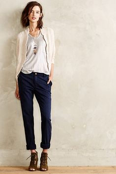 Scalloped Cocoon Cardigan - anthropologie.com love the whole look