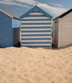 Binnenkant : Blauw-wit-gestreept-strandhuisje