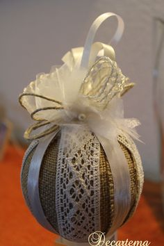 ... on Pinterest  Shabby chic christmas, Natale and Christmas balls