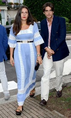 Fashion force: Margherita Missoni, the  heiress to her family's Missoni fashion house, was seen arriving with Eugenio Amos