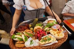 Octoberfest Food. There's food in this picture?!