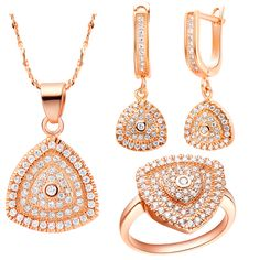 Find More Jewelry Sets Information about CZ Diamond Crystal Jewelry Sets Heart Rose Gold Plated Necklace For Women 925 Silver Ring Wedding Fashion Earrings Ulove T132,High Quality jewelry maze,China jewelry pouch Suppliers, Cheap jewelry filigree from ULove Fashion Jewelry Store on Aliexpress.com