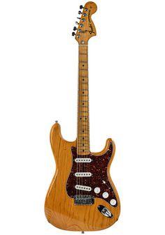Fender Fender Stratocaster Natural 1975 Light Side, Fender Stratocaster, Black Felt, Black Dots, Body Shapes, Over The Years, Natural, Black Fedora, Nature