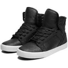 SUPRA Footwear (2,020 MXN) ❤ liked on Polyvore featuring shoes, sneakers, supra, chaussures, sapatos, lightweight shoes, mesh shoes, black and white sneakers, mesh sneakers and lightweight cross trainers