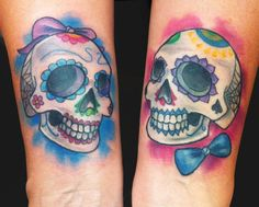 Katelyn Crane - Sugar Love Skulls tattoo Crane, Sugar Love, Sugar Skull Tattoos, Picture Tattoos, I Tattoo, Tatting, Ink, Skulls, Tatoos