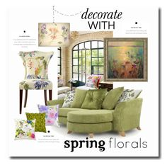 """""""Decorate with Florals"""" by quicherz on Polyvore featuring interior, interiors, interior design, home, home decor, interior decorating, Jennifer Taylor, Bluebellgray, Rizzy Home and Roberto Cavalli"""
