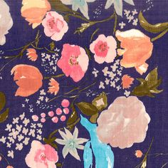 In stock Nani IRO Fuccra rakuen Double Gauze by VariFabric