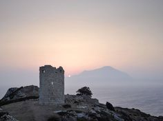 Tower of Drakano, Ikaria island, Greece Ikaria Greece, Tower Bridge, Towers, Medieval, Beautiful Places, Places To Visit, Island, Holidays, Rock