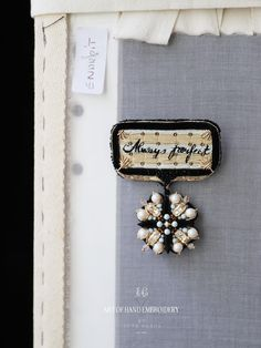 Lesage, Love Signs, Hand Embroidery, Diamond Earrings, Personalized Items, Beads, Beadwork, Jewelry, Collections