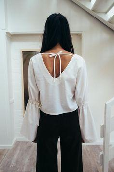 september white blouse