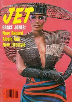 Grace Jones, Jet Magazine 16 May 1983 Cover Photo - United States Magazine Front Cover, Fashion Magazine Cover, Magazine Covers, Jet Magazine, Black Magazine, Magazine Wall, Grace Jones, Jamaican Music, Essence Magazine