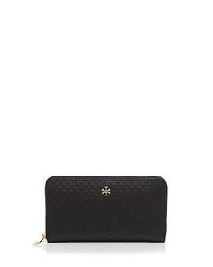 Tory Burch Marion Embossed Multi-Gusset Continental Wallet
