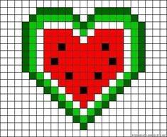 Pixel Art Templates, Perler Bead Templates, Perler Patterns, Tiny Cross Stitch, Cross Stitch Heart, Cross Stitch Patterns, Graph Paper Drawings, Graph Paper Art, Easy Pixel Art