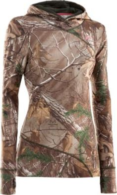 """""""I found this to be warm, comfy and definitely something I would recommend to any woman to wear in the field. I wish it came in different colors so I could wear one everywhere."""" Customer review of the Under Armour Women's EVO ColdGear Hoody"""