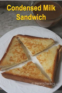 This super easy condensed milk sandwich is not only tasty but is so easy to make. If your kids love condensed milk then it is a hit for sure. Milk Sandwich, Sandwich Bread Recipes, Bread Sandwich Recipe Indian, Sandwich Ideas, Breakfast Recipes, Snack Recipes, Dessert Recipes, Cooking Recipes, Breakfast Toast