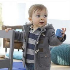 2015 Fashion Baby Boy Jacket Warm Hooded