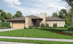 Modern House Plan 1246 The Houston | The Houston: Modern Ranch House Plan with Outdoor Connection