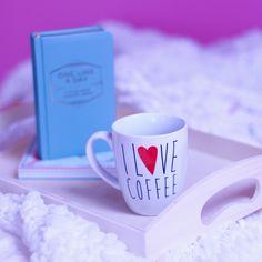 I love coffee mug and one line a day I Love Coffee, Line, Coffee Mugs, My Love, Tableware, Day, Dinnerware, Fishing Line, Dishes