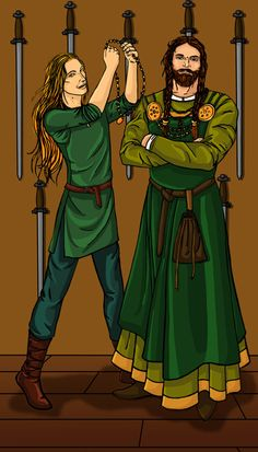 loki and thor in a dress The Seven of Swords by gpalmer.deviantart.com