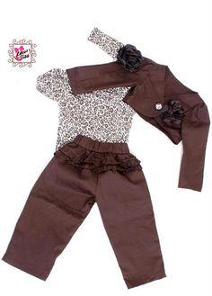 Conjunto Tamanho do P aos 6 anos (tamanhos maiores consultar)  Itens inclusos: Body ou camisa Tiara Calça Bolero  Borche