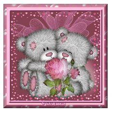 """Tatty Teddy ~ """"Valentine Roses"""" gif."""
