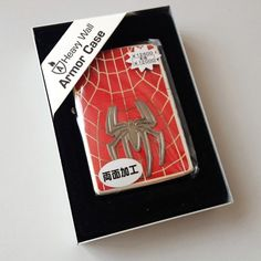 2007 Zippo Plated Silver Armor Spider-Man Lighter