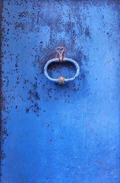 Cobalt blue door/knocker